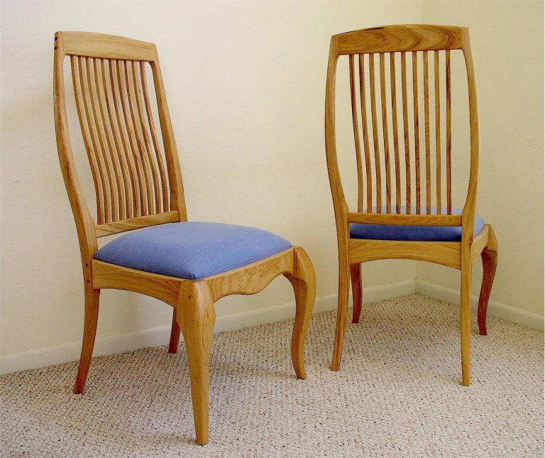 pecan dining chair