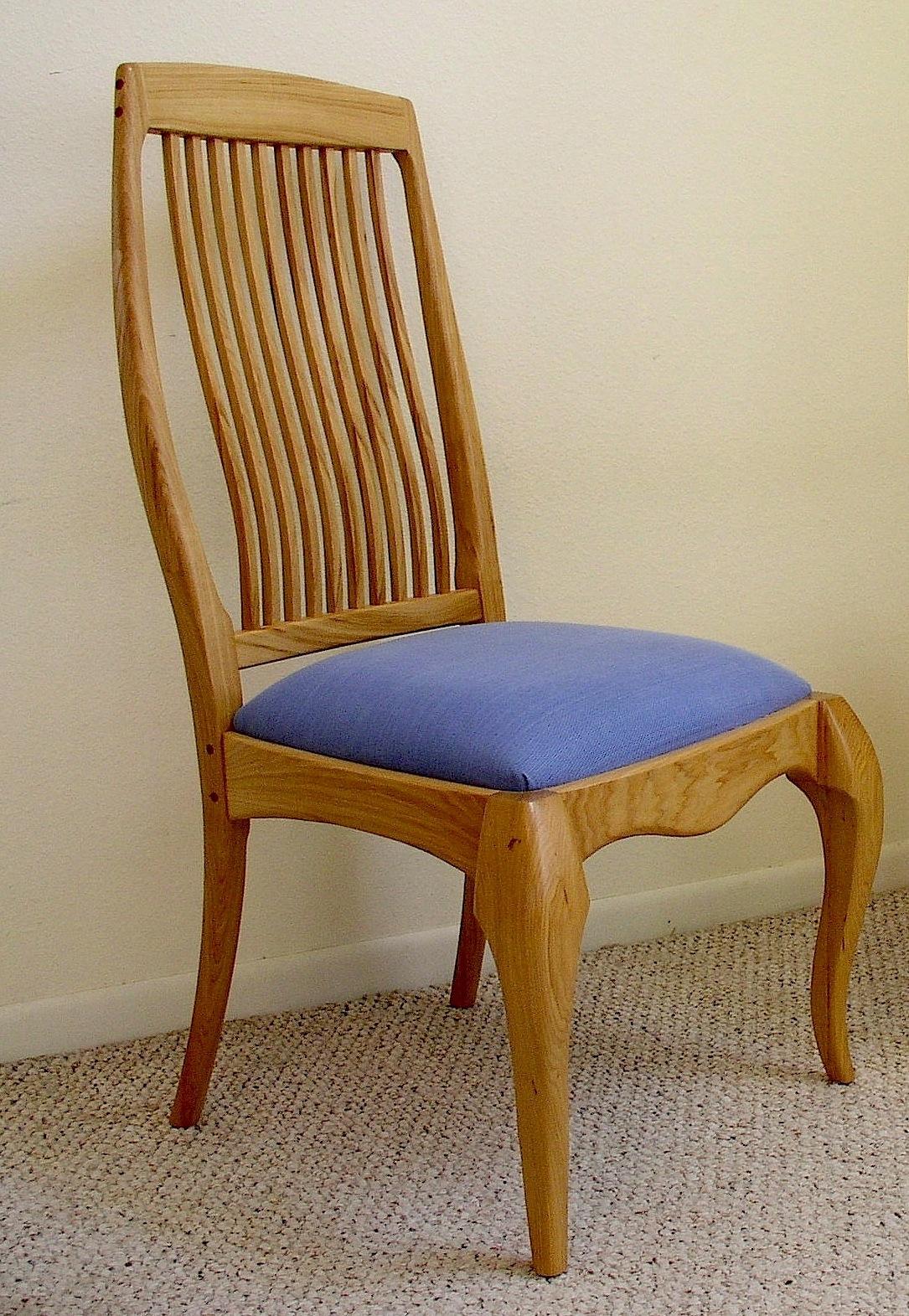 pecan dining chair