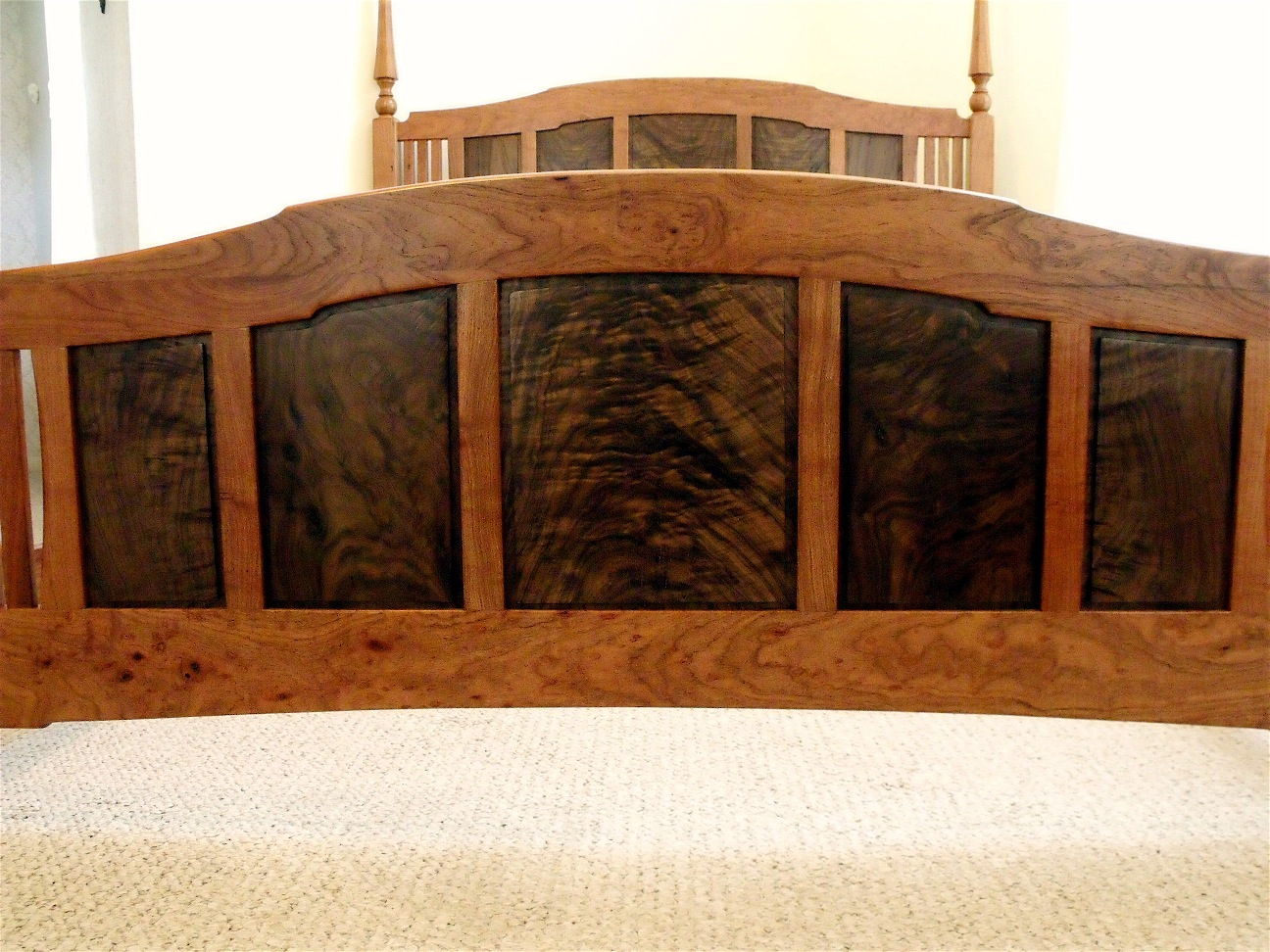 A Four Poster Bed In Mesquite Texas Walnut Louis Fry A Furniture Maker 39 S Blog