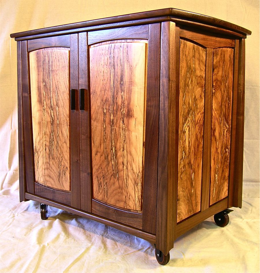 A Small Credenza In Walnut & Spalted Pecan | Louis Fry / A