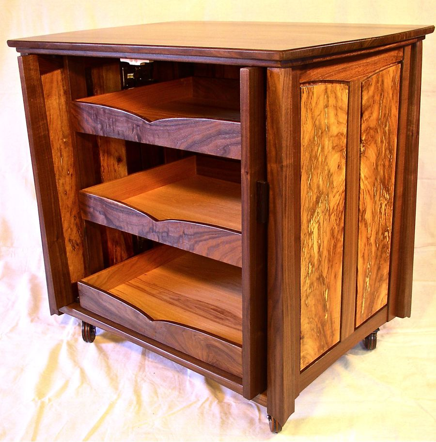 A Small Credenza In Walnut Spalted Pecan Louis Fry A