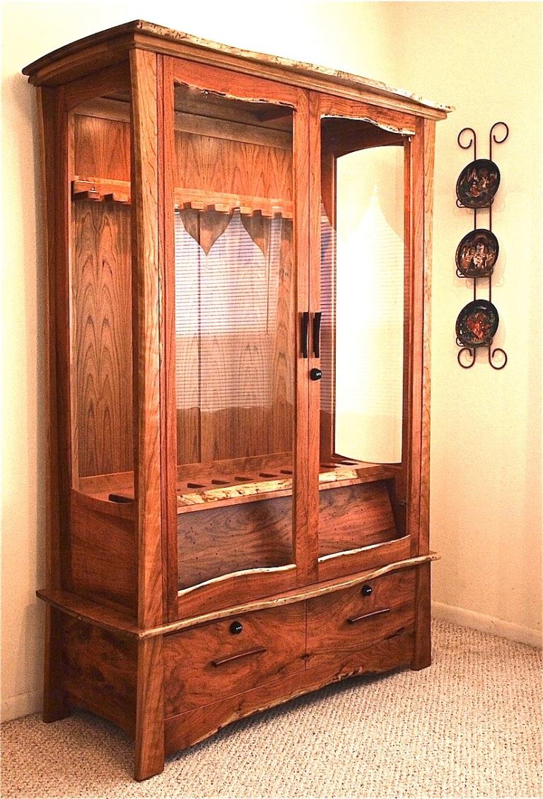 Mesquite & Cherry Gun Cabinet – Louis Fry / A Furniture ...