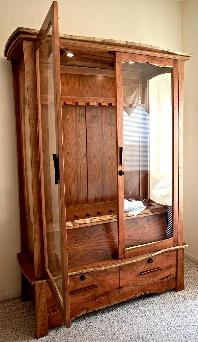 Mesquite Amp Cherry Gun Cabinet Louis Fry A Furniture
