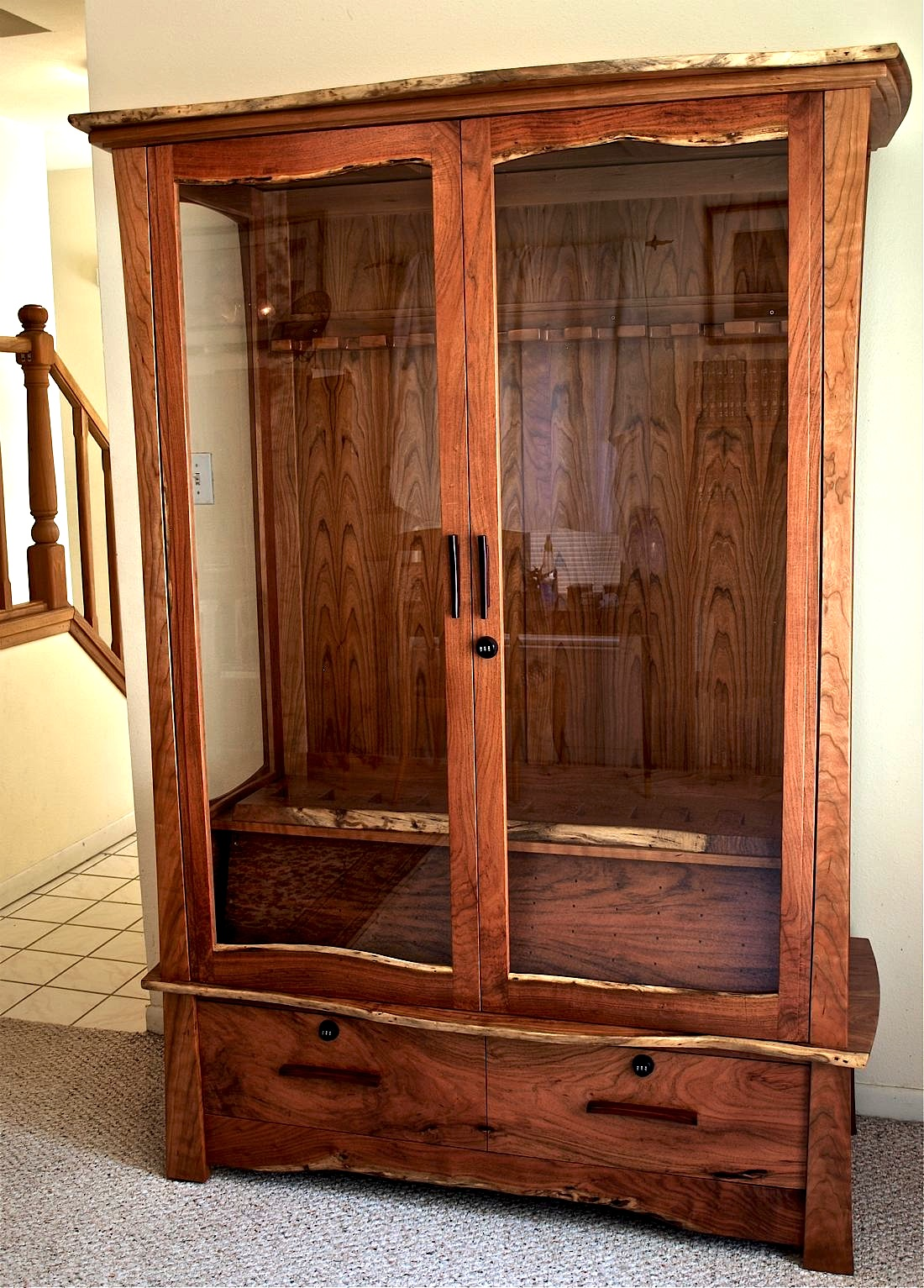 Mesquite amp Cherry Gun Cabinet Louis Fry A Furniture Makers Blog