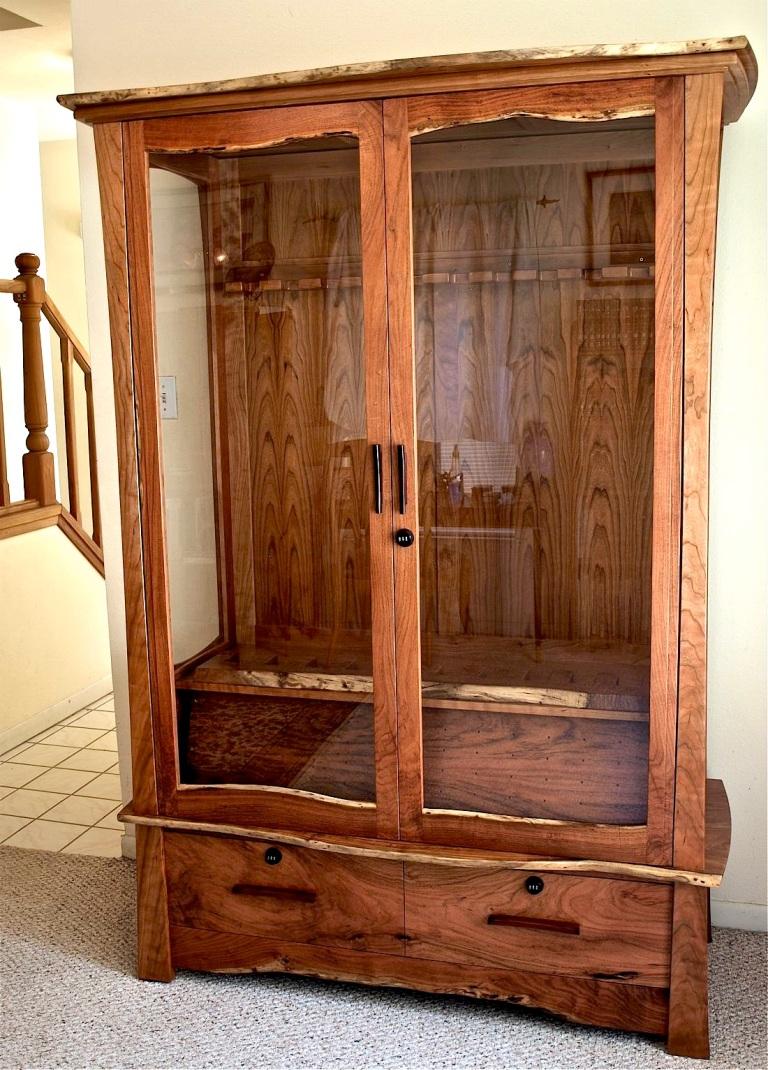 Mesquite & Cherry Gun Cabinet