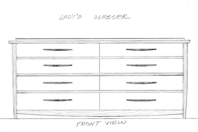 8 drawer dresser drawing