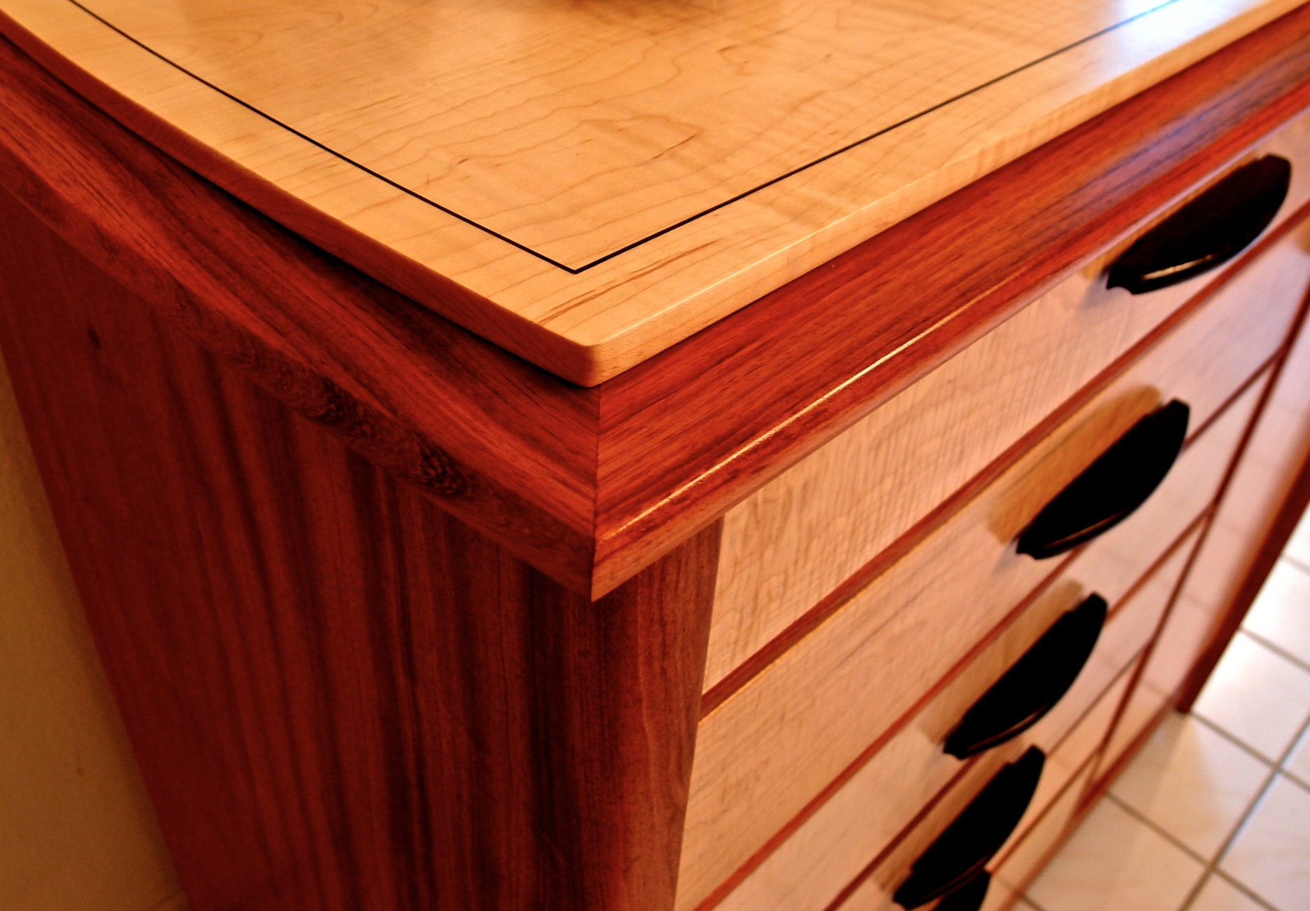 Custom Cabinet Pulls Custom Handmade Dresser In Bubinga Curly Maple Louis Fry A