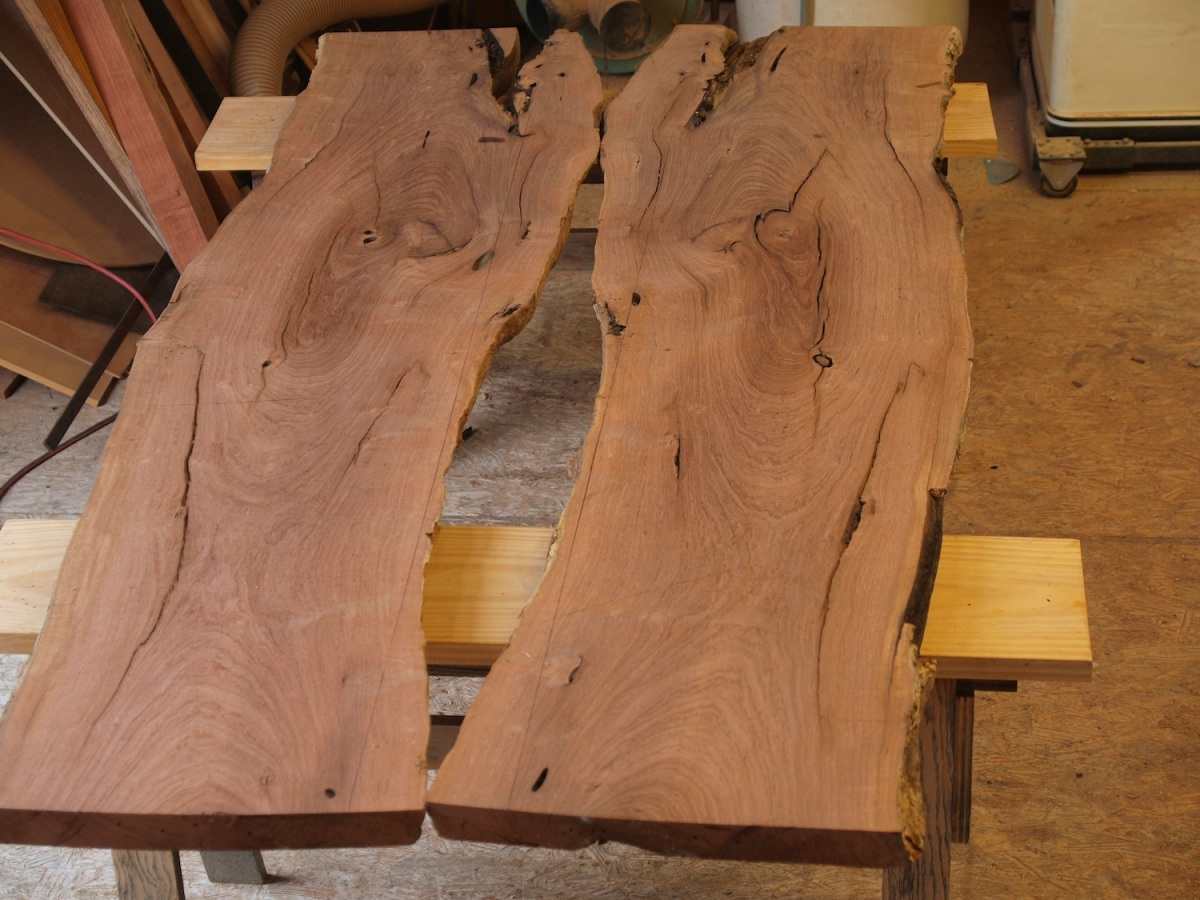 book matched mesquite slabs