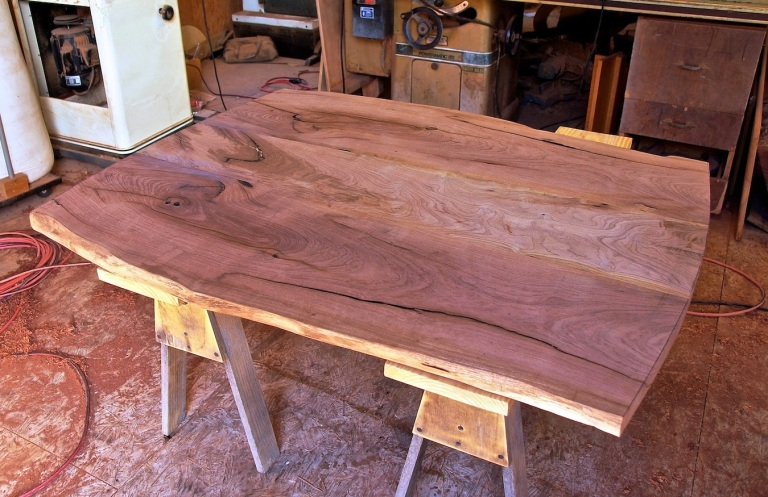 natural edge mesquite table top