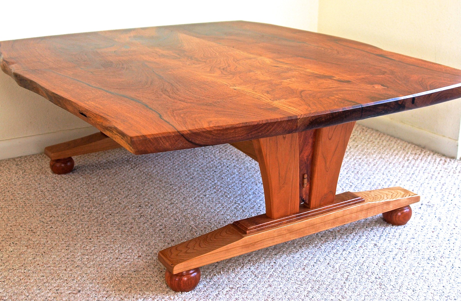 Live Edge Coffee Table In Mesquite Cherry Louis Fry A Furniture Maker 39 S Blog