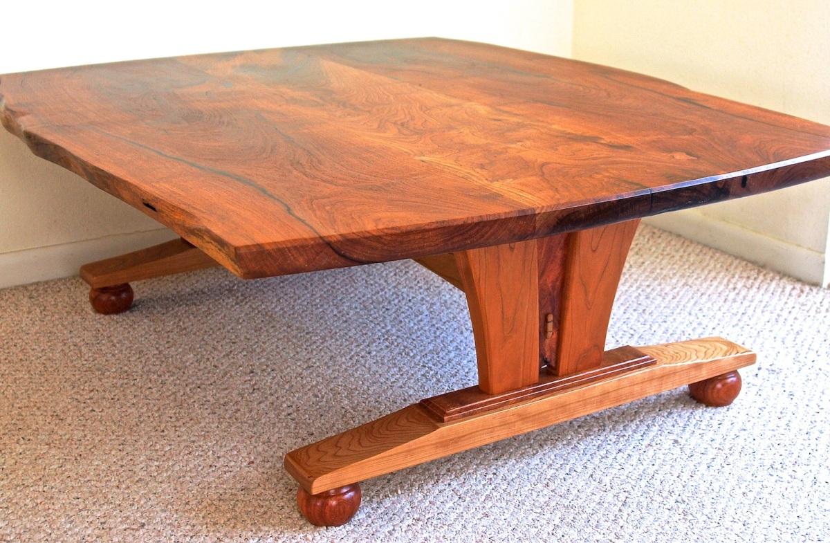mesquite live edge coffee table