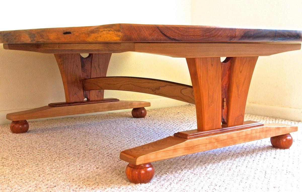 live edge mesquite coffee table 4