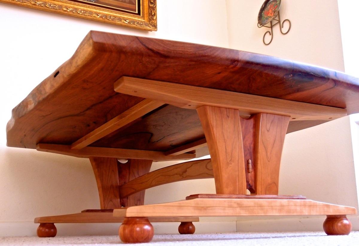 live edge mesquite coffee table 5