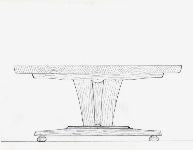 Weeks trestle table001
