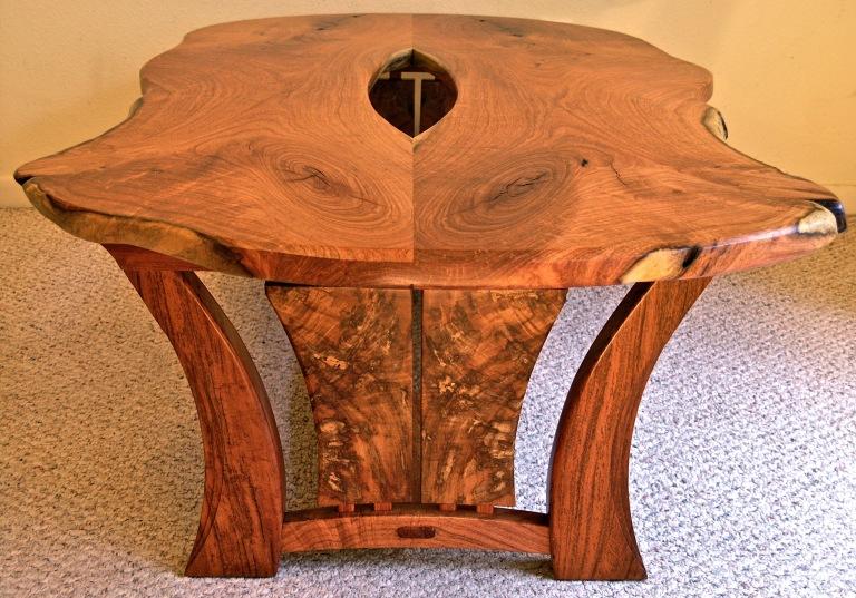 live edge Texas mesquite coffee table