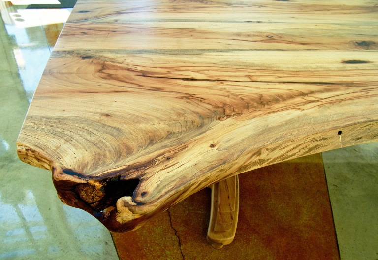 Live edge Texas pecan conference table.