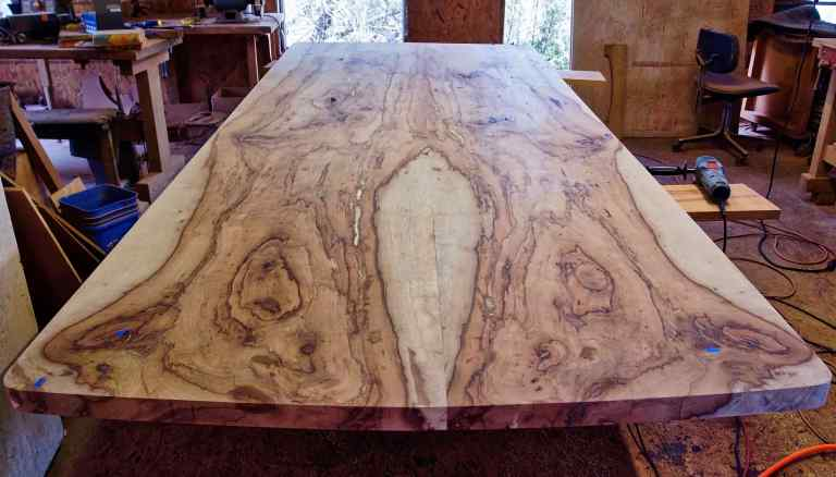 Texas Pecan Conference Table Top Under Construction
