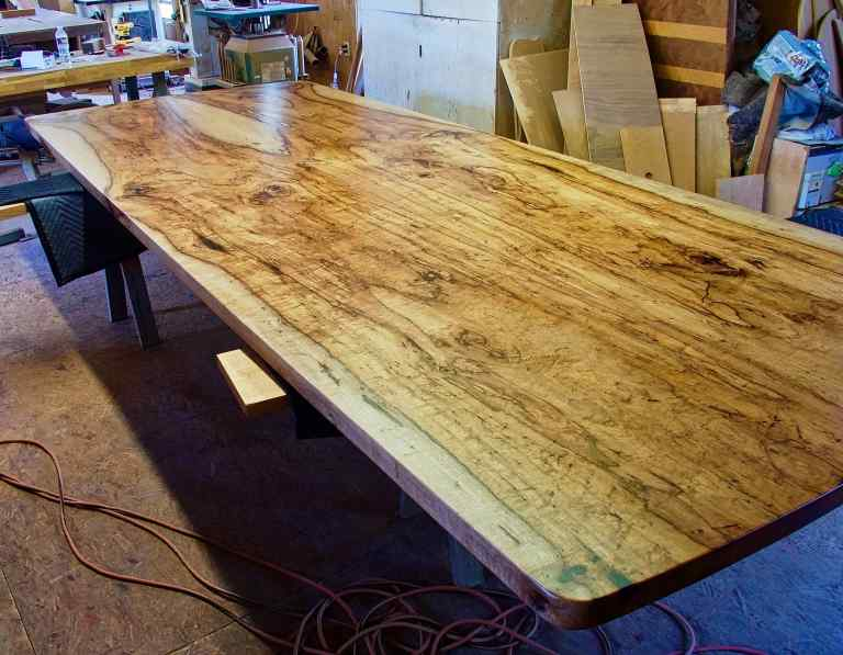 Pecan Conference Table Top With Finish